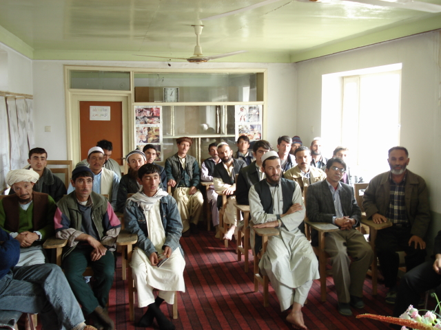 2006 11 19 inauguration paravet training in Mazar 5